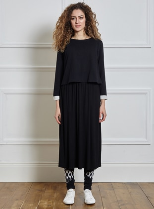 Modest Dress - Black