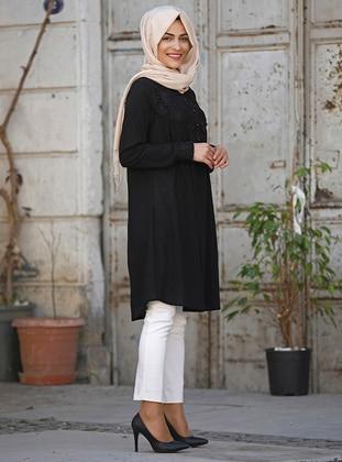 Black - Khaki - Cotton - Black - Cotton - Tunic