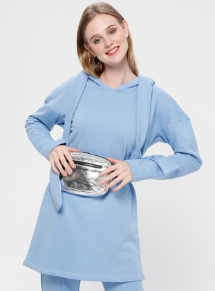 Baby Blue - Unlined - Cotton - Suit