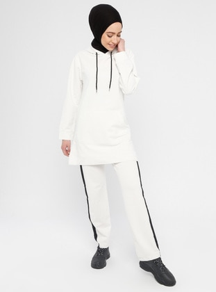 Ecru - Cotton - Tracksuit Set