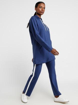 Indigo - Cotton - Tracksuit Set