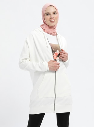 Ecru - Cotton - Tracksuit Top