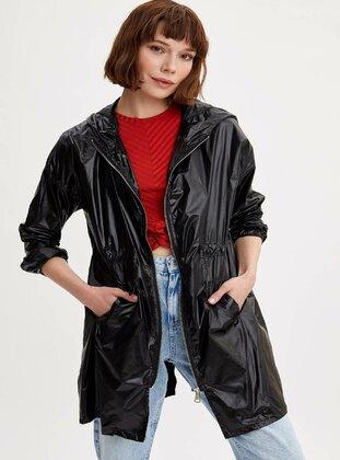 Black - Girls` Raincoat