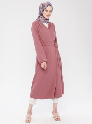 Dusty Rose - Unlined - Shawl Collar - Cotton - Topcoat