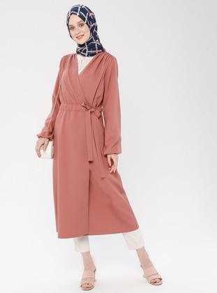 Orange - Unlined - Shawl Collar - Cotton - Topcoat