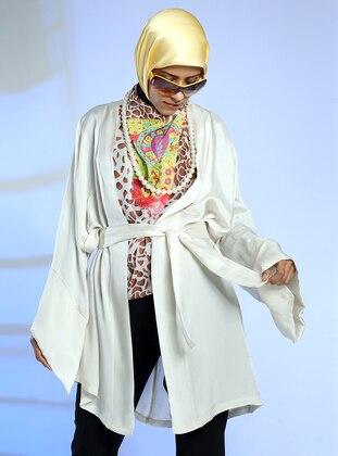 Cream - Unlined - Cotton - Abaya