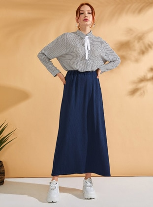 Petrol - Unlined - Cotton - Skirt