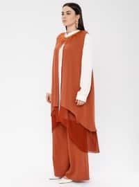 Terra Cotta - Crew neck - Unlined - Plus Size Suit