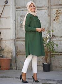 Khaki - Cotton - Tunic