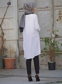 White - Khaki - Cotton - White - Cotton - Tunic
