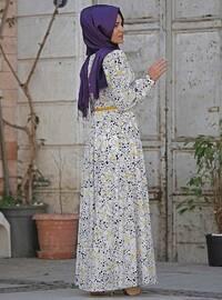 White - Multi - Fully Lined - Dress