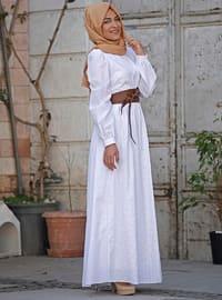 White - Fully Lined - Dress