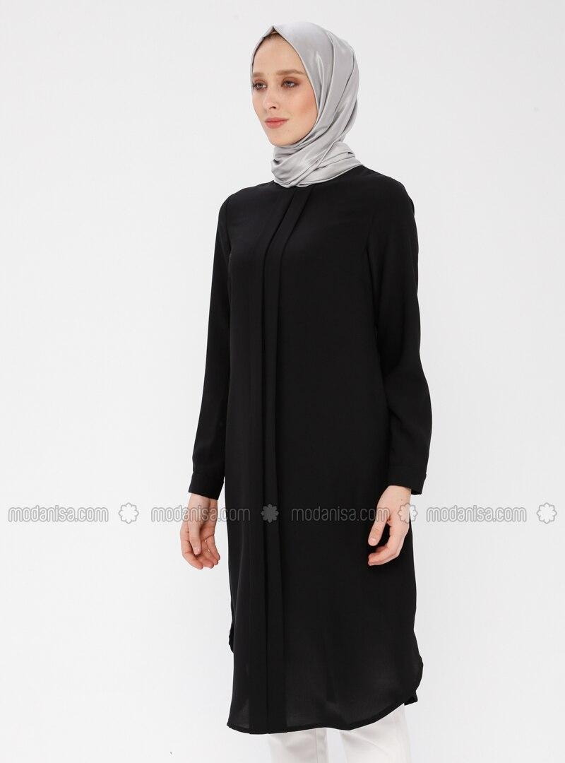 a1854032b005c Düz Renk Tunik - Siyah
