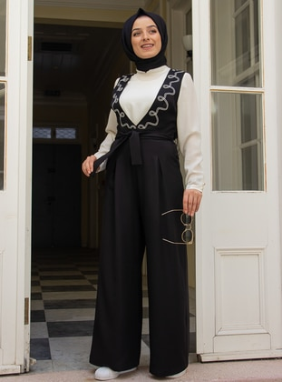 Black - Fully Lined - Jumpsuit