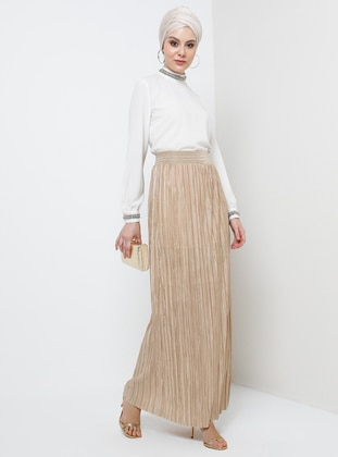 Unlined - Gold - Evening Skirt - Tavin