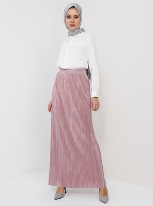 Unlined - Dusty Rose - Evening Skirt - Tavin