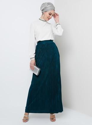 Unlined - Green - Emerald - Evening Skirt