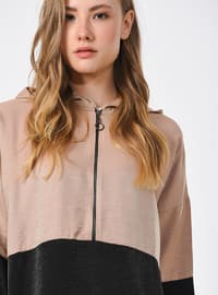 Viscose - Black - Beige - Sweat-shirt