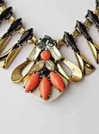 Orange - Gold - Necklace