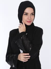 Siyah - Astarsız kumaş - Ferace