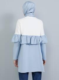 White - Ecru - Blue - Crew neck -  - Tunic