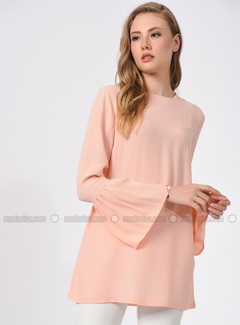 Pink - Crew neck - Viscose - Blouses