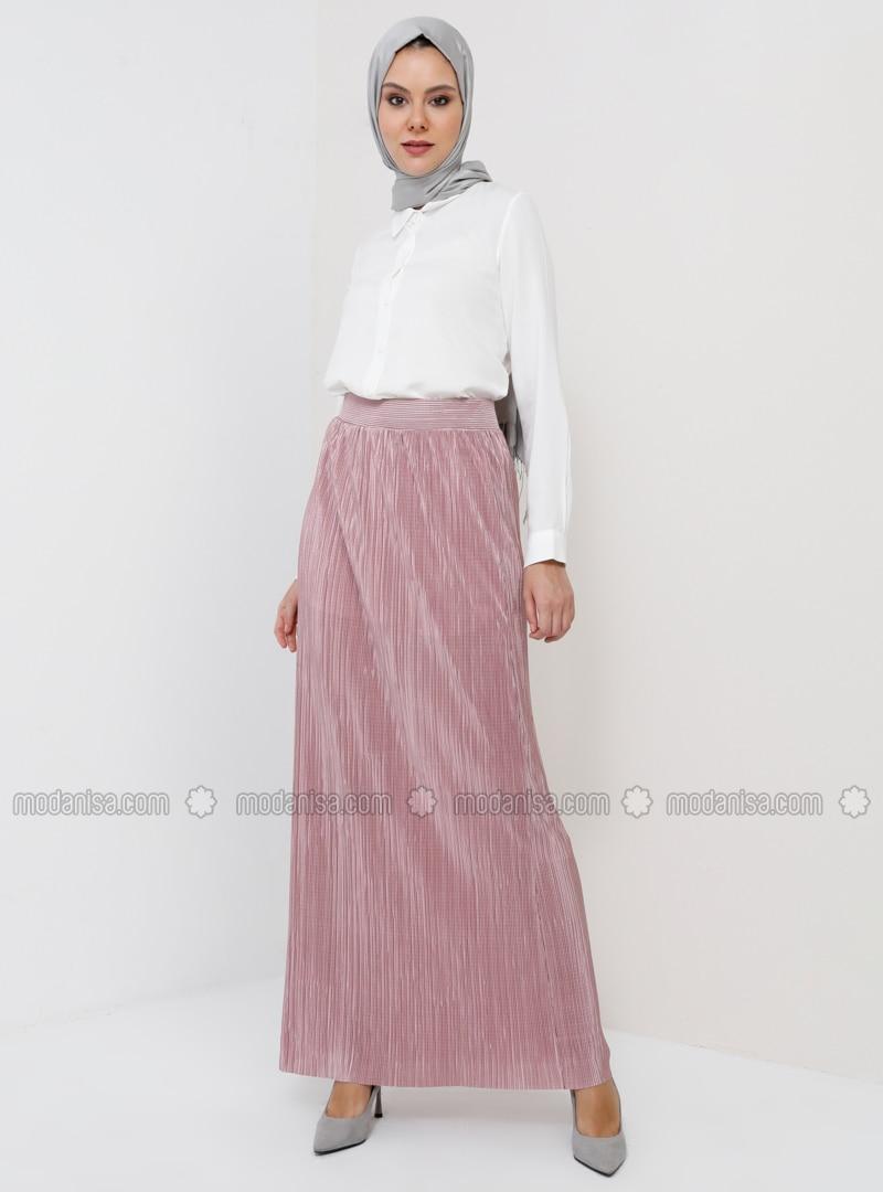 Unlined - Dusty Rose - Evening Skirt