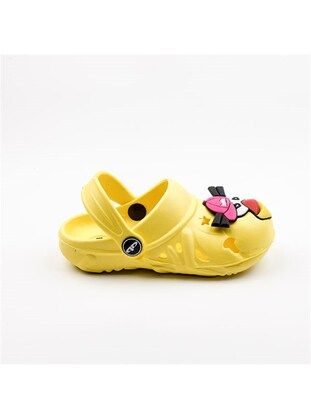 Yellow - Girls` Slippers - Akınal bella