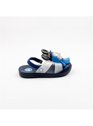 Navy Blue - Girls` Slippers - Akınal bella