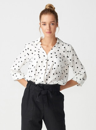 White - Point Collar - Blouses