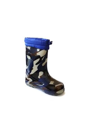 Navy Blue - Boots - Akınal bella