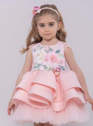e568015ff ملون - قبة مدورة - نسيج مبطن - بودرة - فستان للبنات