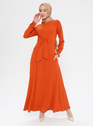 Terra Cotta - Crew neck - Fully Lined - Dress