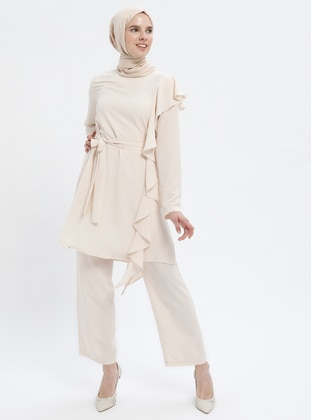 Beige - Unlined - Suit