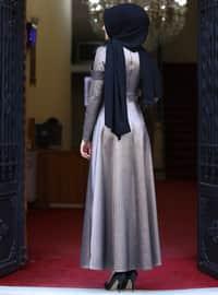 - Fully Lined - Crew neck - Muslim Evening Dress