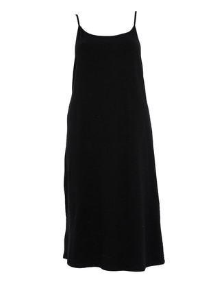 Black - Unlined -  - Plus Size Dress