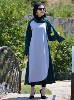 Green - Cotton - Abaya
