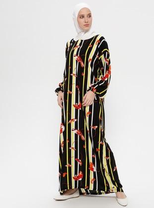 Black - Multi - Unlined - Viscose - Prayer Clothes