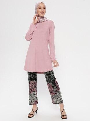 Black - Pink - Multi - Unlined - Viscose - Suit