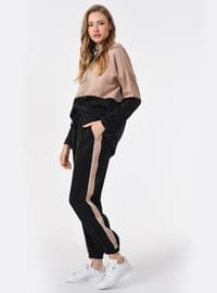 Black - Beige - Pants