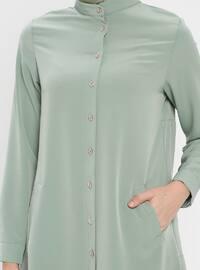 Mint - Button Collar - Tunic