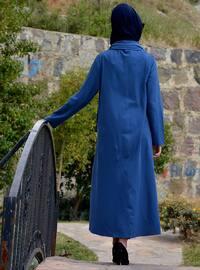 Navy Blue - Indigo - Cotton - Abaya