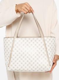 White - Ecru - Shoulder Bags