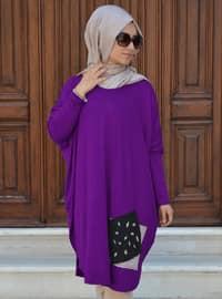 Purple - Viscose - Tunic