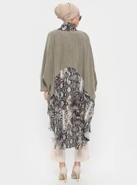 Khaki - Multi - Shawl Collar - Tunic