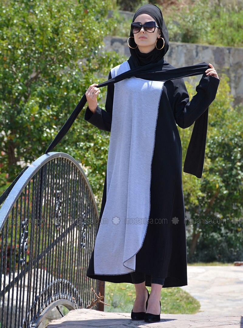 Black - Cotton - Abaya