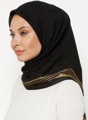 Black - Gold - Plain - Scarf