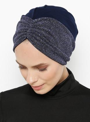 Navy Blue - Saxe - Plain - Bonnet