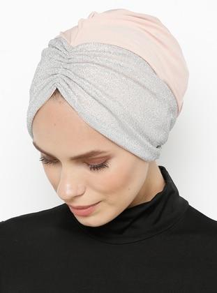 Powder - Silver tone - Plain - Bonnet