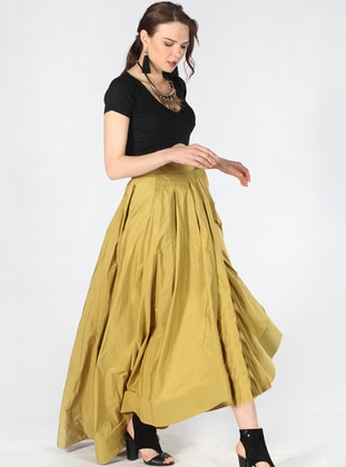 Olive Green - Fully Lined - Skirt
